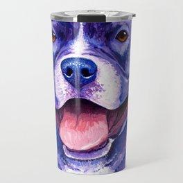 Colorful American Pitbull Terrier Dog Travel Mug