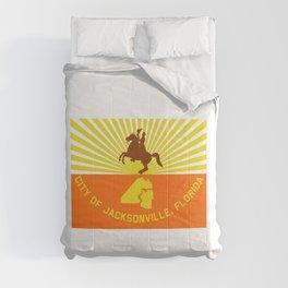 flag of Jacksonville Comforters