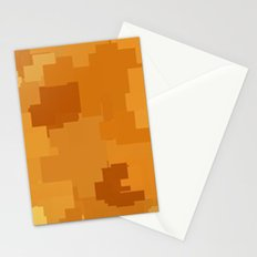 Butterscotch Square Pixel Color Accent Stationery Cards