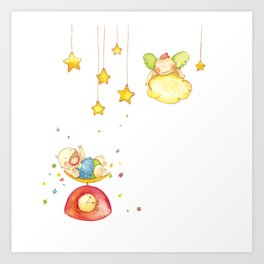 Baby weight Art Print
