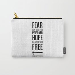 Lab No. 4 - Hope Inspirational Quote by Stephen King Inspirational Quotes Carry-All Pouch