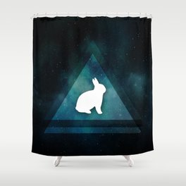 Lamar in SpaceTime Shower Curtain