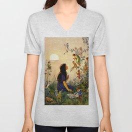 """Vintage Fairies' by Margaret Tarrant Unisex V-Neck"