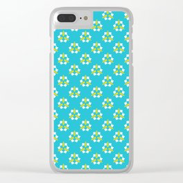 Bright summer daisy flower bloom seamless vector pattern. Clear iPhone Case