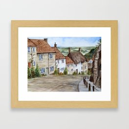 Golden Hill, Shaftesbury Framed Art Print