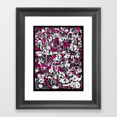 Ghost Doodles Framed Art Print