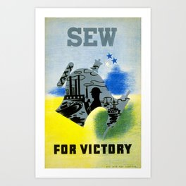 Vintage World War 2 Sew for Victory Art Print