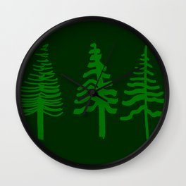 doug fir Wall Clock