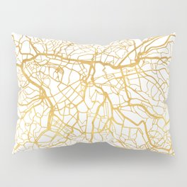 SAO PAULO CITY STREET MAP ART Pillow Sham
