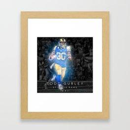 Todd Gurley Framed Art Print