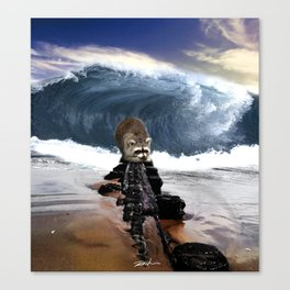 First time on the beach Canvas Print