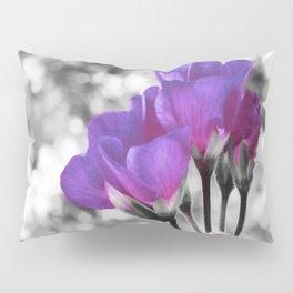 Fuchsia Violet Flowers Pop Of Color Pillow Sham