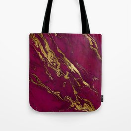 Marsala Marble and Gold Foil Tote Bag