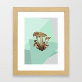 Geometric Fungi Framed Art Print