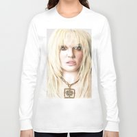 britney Long Sleeve T-shirts featuring Britney by LeonieMV