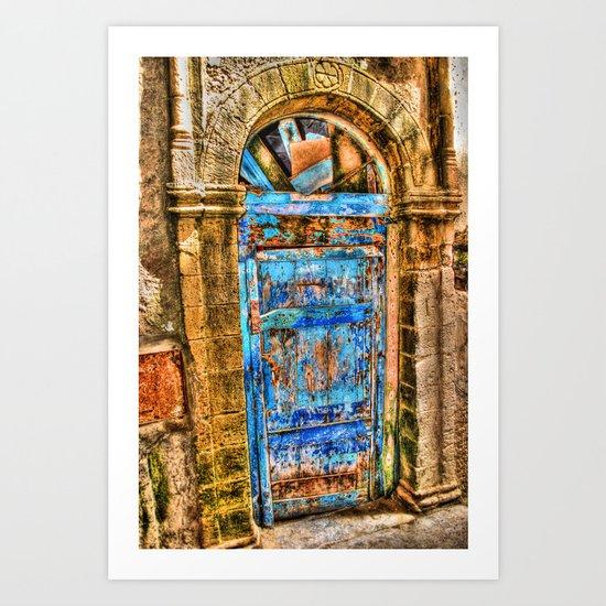 Blue Door II Art Print