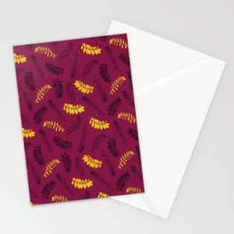 Gold Leaves Stationery Cards