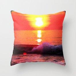Seaside Park Sunrise Throw Pillow