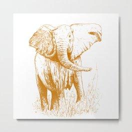 Elephant caramel Metal Print