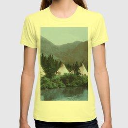 Blackfoot Camp Up the Cutbank in Montana T-shirt