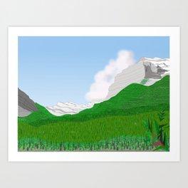 Sparrow Hawk Banff / Canmore Art Print