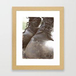 War - Am I Coming Home? Framed Art Print