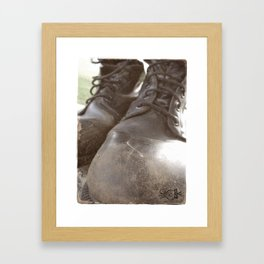 War - Am I Coming Home? Framed Art Print