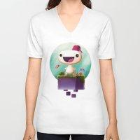 selena gomez V-neck T-shirts featuring Gomez by Gazulo Marquez