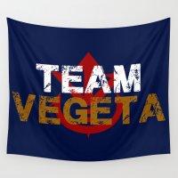 vegeta Wall Tapestries featuring Team Vegeta by AJF89