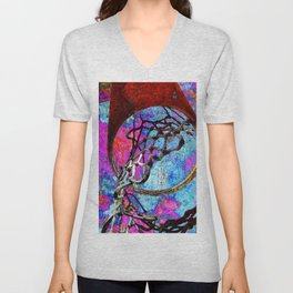 Basketball artwork 126 Unisex V-Neck