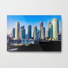 Dubaï, The View From Burj Khalifa Square Metal Print