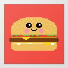 Happy Pixel Hamburger Canvas Print
