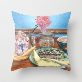 ''Catching Up'' Throw Pillow