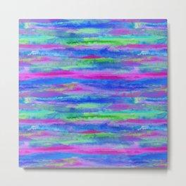 Watercolor Abstract Cool Metal Print