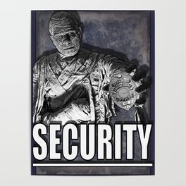 Mummy Security Poster