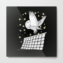 Zentangle Magical Messenger Owl Metal Print