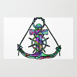 Anchor and Steering Helm [MultiColor] Rug