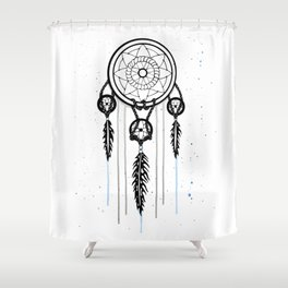 Dreamcatcher [Watercolor] Shower Curtain
