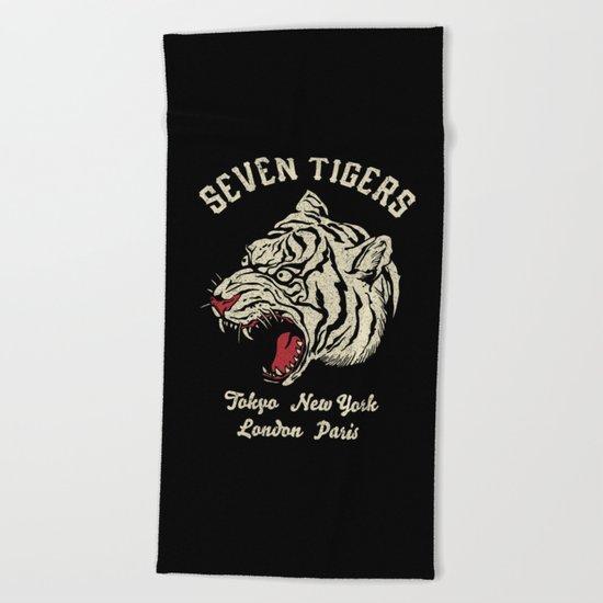Seven Tigers Beach Towel