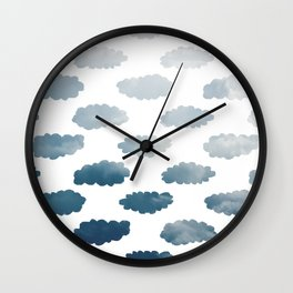 Cloudy Clouds Wall Clock