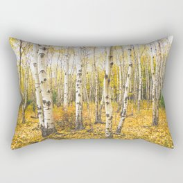 Autumn Birch Forest Rectangular Pillow