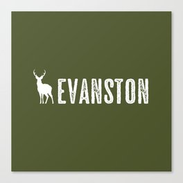 Deer: Evanston, Wyoming Canvas Print