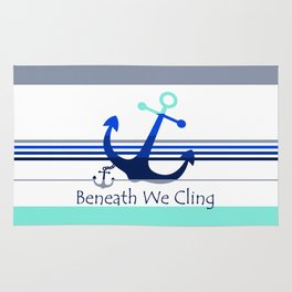 Beneath We Cling: White Rug