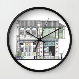 Penang Street Scene I Wall Clock