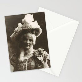 Young Lady in a Fancy Hat and Dress Stationery Cards
