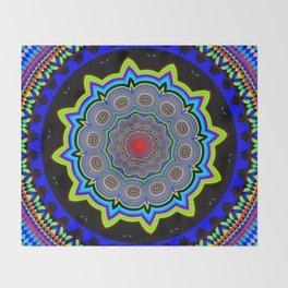 Zoom Mandala Throw Blanket