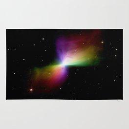 rainboW Space Boomerang Nebula Rug