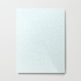 Spacey Melange - White and Light Cyan Metal Print