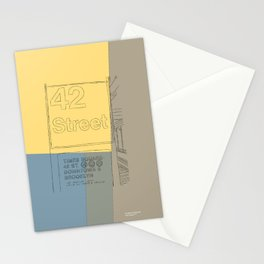 42nd Street NYC Subway Stationery Cards