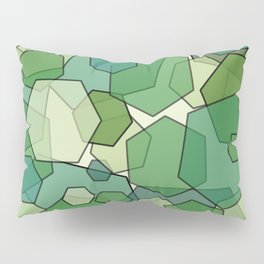 Converging Hexes - Green and Yellow Pillow Sham